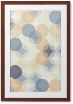 Póster Enmarcado Modernos del vector círculos patrón de colores sin fisuras geometría, el color de fondo abstracto geométrico, impresión del papel pintado, textura retro, diseño de moda del inconformista, __