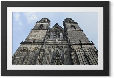 Gerahmtes Poster Magdeburger Dom - unbearbeitet