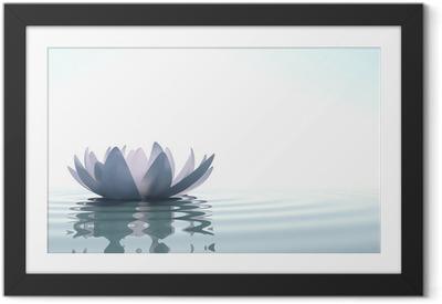 Poster i Ram Zen blomma loto i vatten