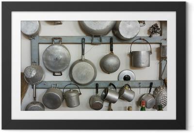 Poster en cadre Équipement de cuisine à l'ancienne