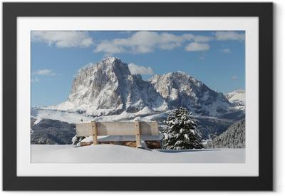 Poster en cadre Langkofel Berg der Dolomiten