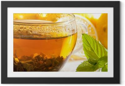 Póster com Moldura tea