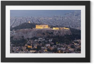 Ingelijste Poster Akropolis en het Parthenon, Athene, Griekenland
