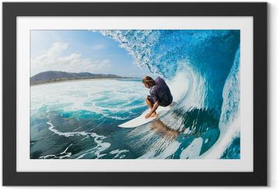 Gerahmtes Poster Wellenreiten
