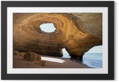 Gerahmtes Poster Portugal - Algarve - Benagil - Sea-Caves