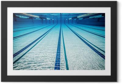 Ingelijste Poster Swimming pool