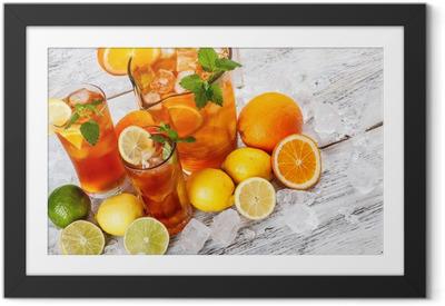 Refreshing ice tea Framed Poster