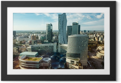 Warsaw view Framed Poster