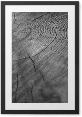 Póster com Moldura Wood
