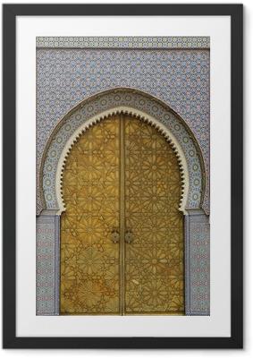 moroccan entrance (3) Framed Poster