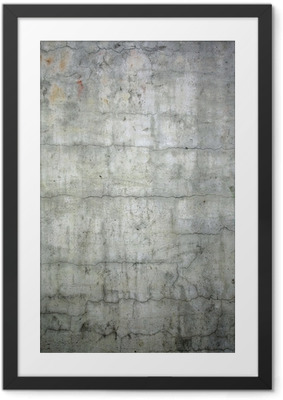 grunge concrete texture background Framed Poster
