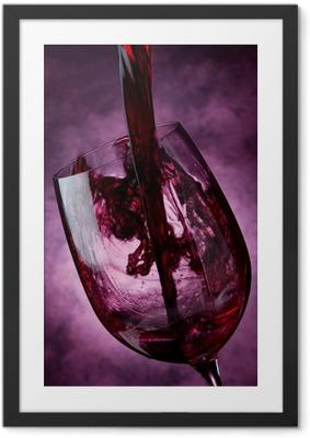 Póster com Moldura Wine