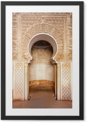 Poster in Cornice Marrakech madrasah ornamento