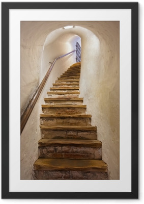 Stairs in Castle Kufstein - Austria Framed Poster