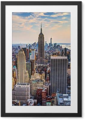 Poster in Cornice New York City al crepuscolo