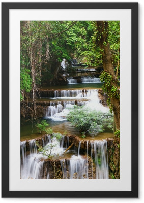 Huay mae kamin waterfall in Thailand Framed Poster