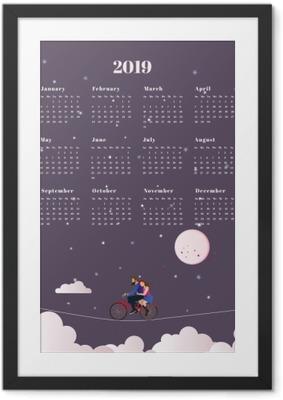 Gerahmtes Poster Kalender 2019 - Reise