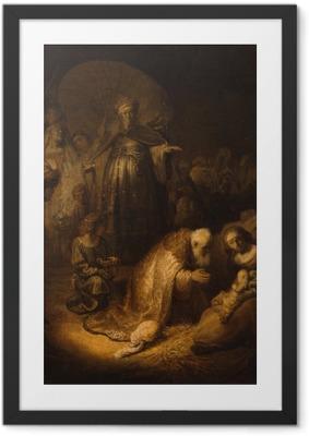 Poster en cadre Rembrandt - Adoration des mages