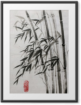 bamboo is a symbol of longevity and prosperity Framed Poster