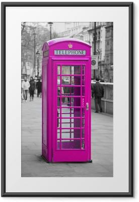 Póster Enmarcado Cabina telefónica en Londres