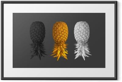 Poster i Ram Abstrakt bakgrund med ananas