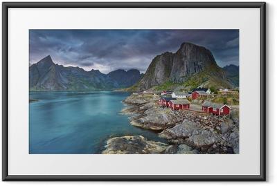 Gerahmtes Poster Norwegen