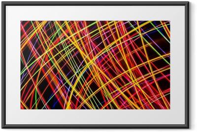 Poster in Cornice Arte Moderna. trama di luci al neon a lunga esposizione.