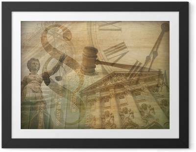 Ingelijste Afbeelding Justitie Collage