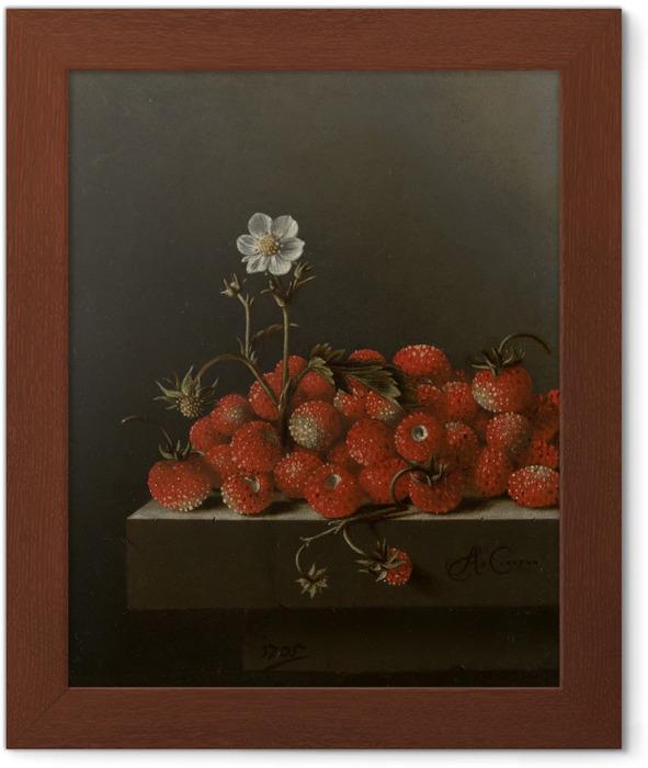 Póster Enmarcado Adriaen Coorte - Still Life with Wild Strawberries - Reproducciones