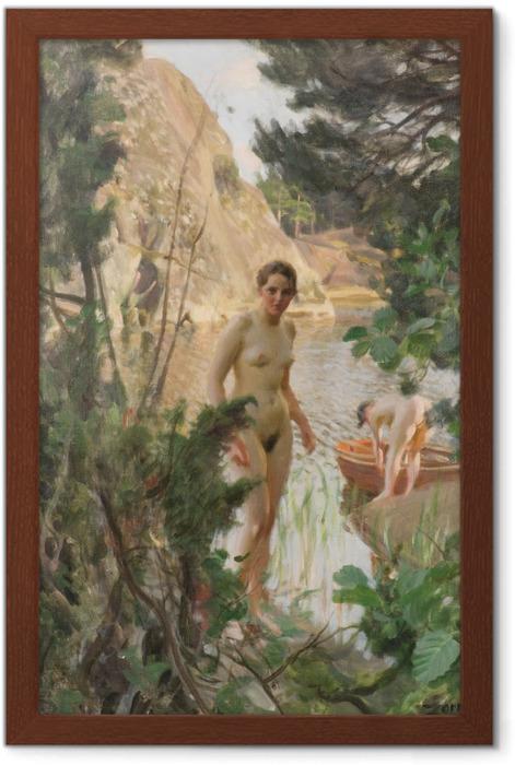 Poster en cadre Anders Zorn - La Barque - Reproductions