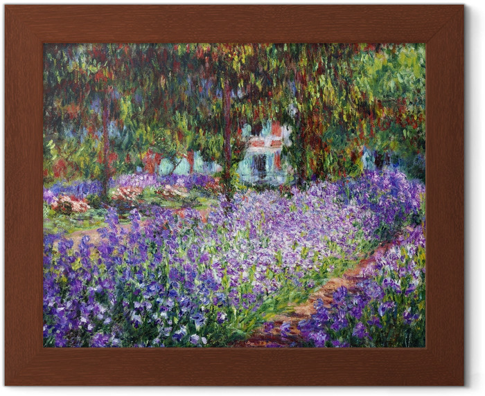 Claude Monet - The Artist's Garden at Giverny Framed Poster - Reproductions