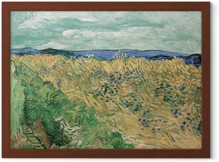 Poster i Ram Vincent van Gogh - Fält med blåklint - Reproductions