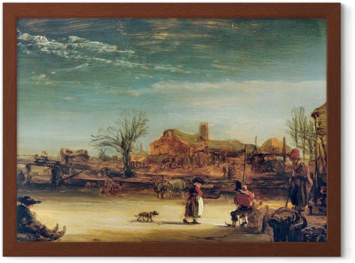 Rembrandt - Winter Landscape Framed Poster - Reproductions