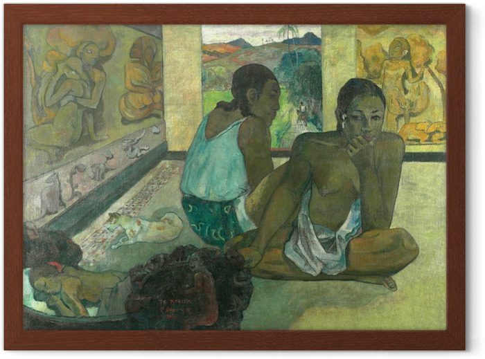 Plakat w ramie Paul Gauguin - Te rerio (Sen) - Reprodukcje