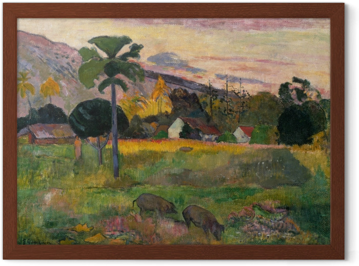 Paul Gauguin - Haere mai (Come here) Framed Poster - Reproductions
