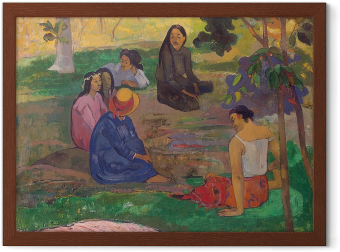Paul Gauguin - The Gossipers Framed Poster - Reproductions