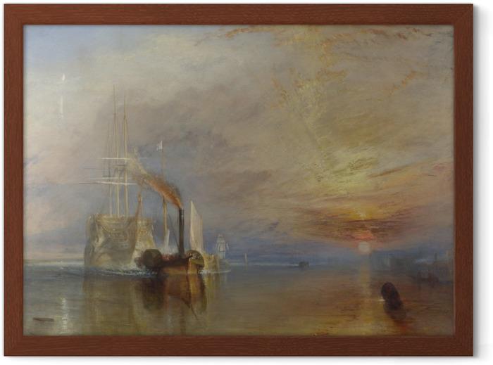 Poster in Cornice William Turner - La valorosa Temeraire tirò al suo ultimo ancoraggio per essere spezzata - Riproduzioni
