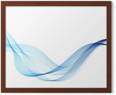 Abstract Background With Blue Smoke Wave