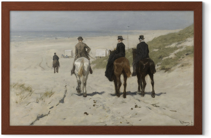 Anton Mauve - Morning Ride on the Beach Framed Poster - Reproductions