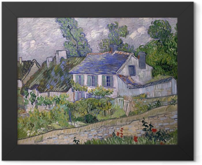 Plakat w ramie Vincent van Gogh - Domy w Auvers - Reproductions