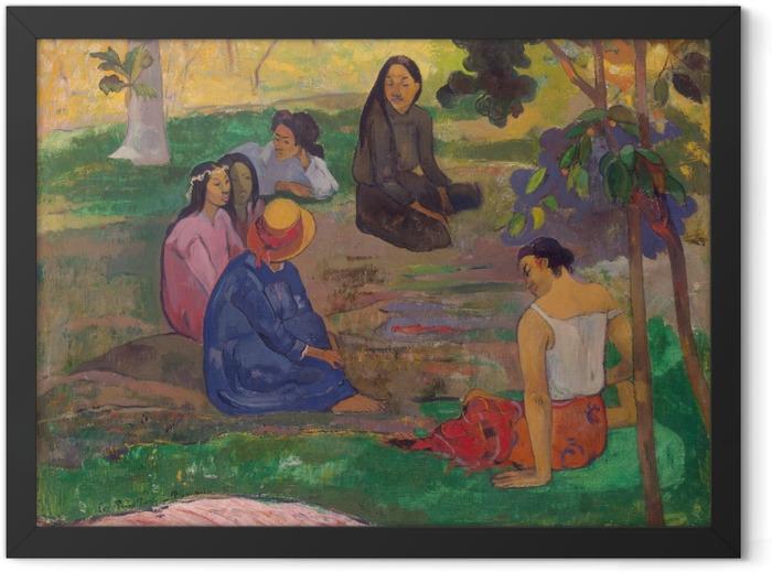 Gerahmtes Poster Paul Gauguin - Das Gespräch - Reproduktion