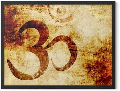 Om symbol Framed Poster