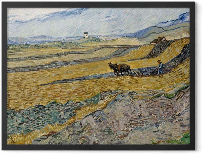 Poster en cadre Vincent van Gogh - Laboureur dans un champ - Reproductions