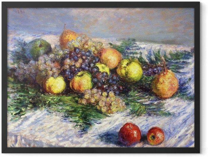 Plakat w ramie Claude Monet - Gruszki i winogrona - Reprodukcje