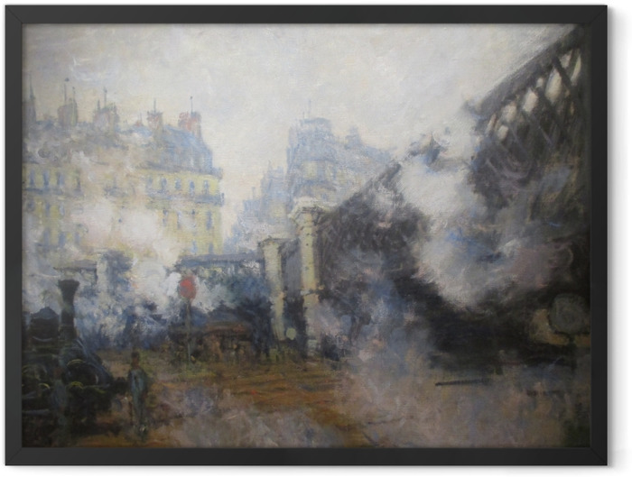 Poster en cadre Claude Monet - Pont de l'Europe, gare Saint-Lazare - Reproductions