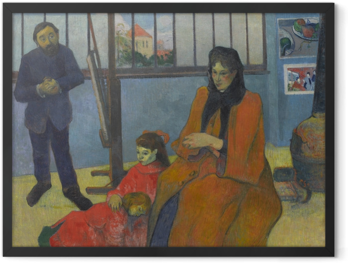 Plakat w ramie Paul Gauguin - Rodzina Schuffenecker - Reprodukcje