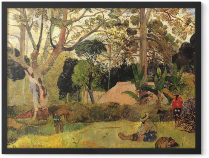 Poster en cadre Paul Gauguin - Te Raau Rahi (Le grand arbre) - Reproductions