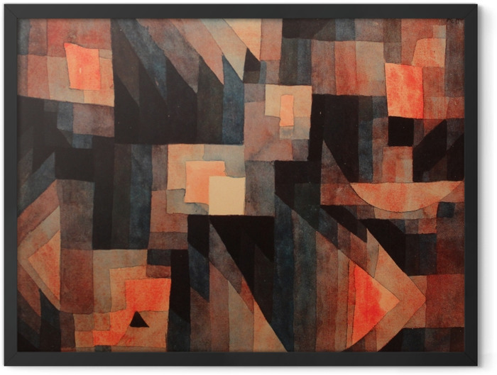 Plakat w ramie Paul Klee - Gradient, czerwien - zieleń - Reprodukcje
