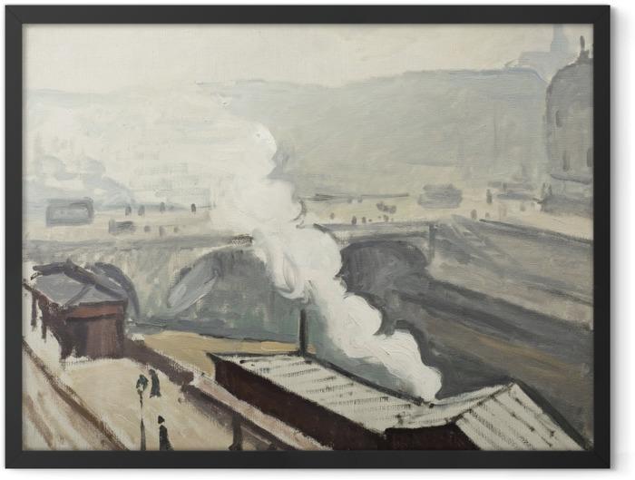 Poster en cadre Albert Marquet - Quai Saint-Michel avec fumée - Reproductions