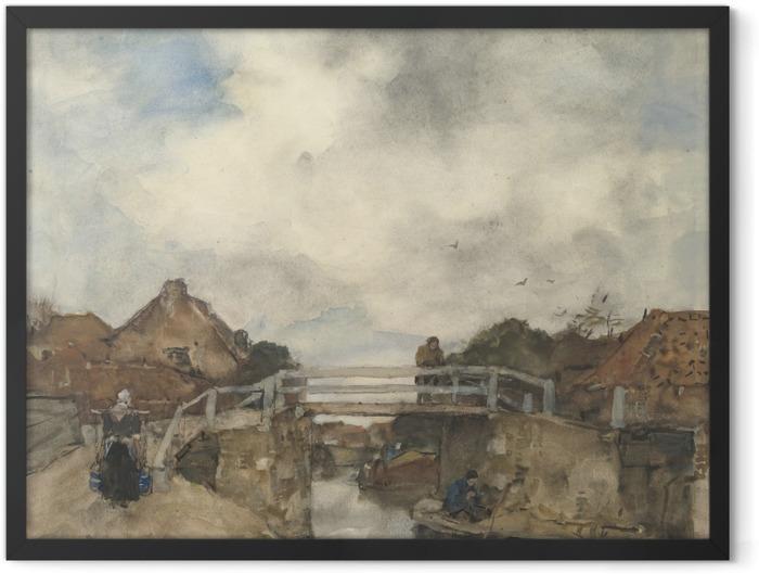 Gerahmtes Poster Jacob Maris - Kanal in Rijswijk - Reproductions
